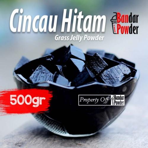 cincau hitam jual bubuk minuman topping bandar powder 500gr - Bandar Powder