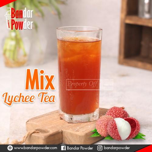 lychee TEA JUAL BUBUK MINUMAN BANDAR POWDER mix 1KG - Bandar Powder