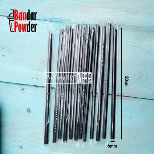 sedotan lurus hitam bandar powder jual straw - Bandar Powder
